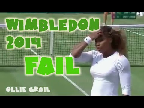 Serena Williams (Drunk?) at Wimbledon 2014
