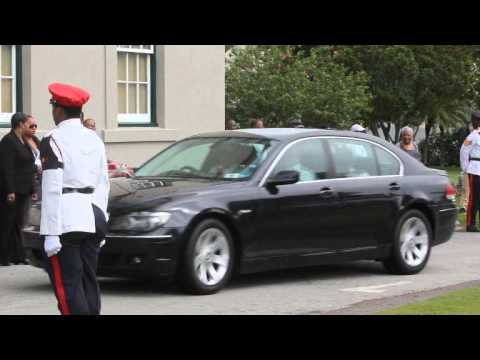 Dignitaries Arrive Remembrance Day Parade Bermuda November 11 2011