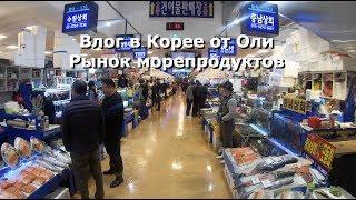 Корейский рынок морепродуктов, морские черви и другая вкуснятина [오!한국어, Оля]
