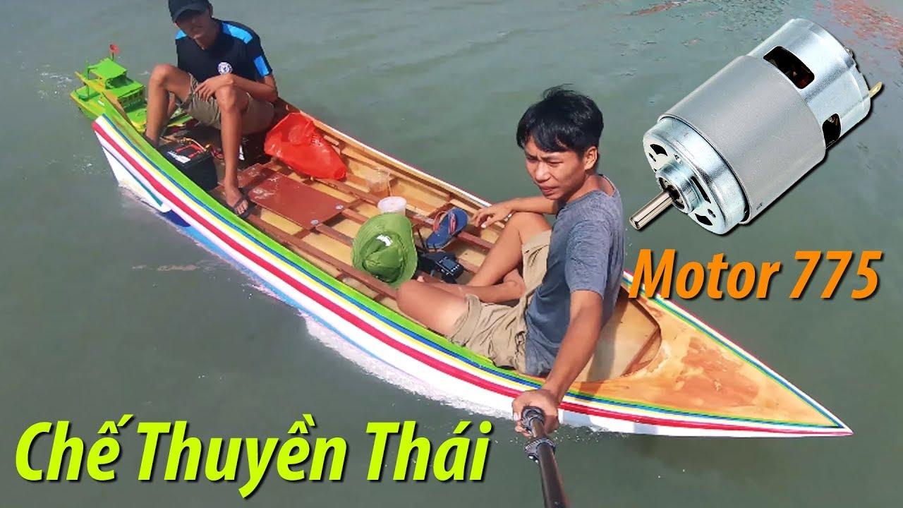 Chế thuyền kiểu Thái   Thai Drag Race Long-Tail Boat Motor 775