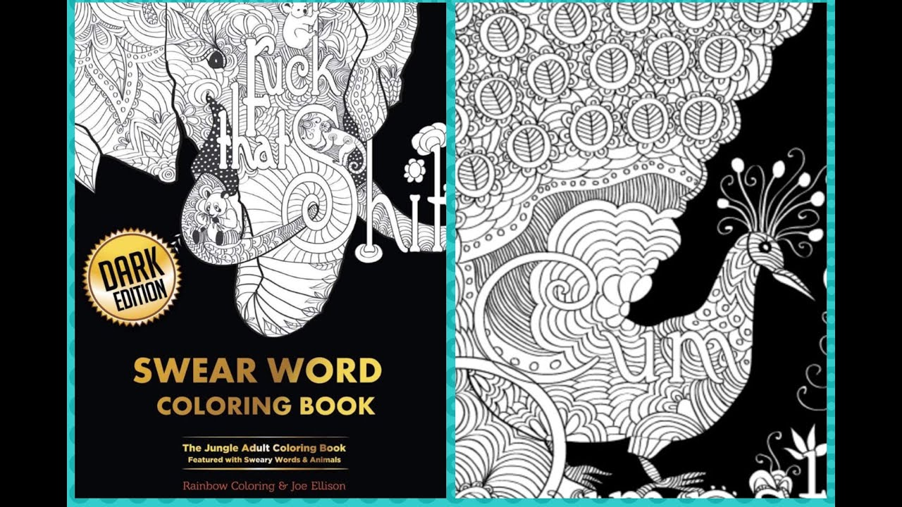Joe Ellisons Swear Word Adult Coloring Book Flip Review Amazing Art Work Makes Me Happy