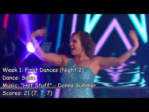 Mary Lou Retton - All Dancing With The Stars Performances
