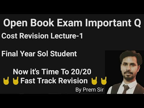 B.COM Final year cost revision | As Per Open Book Exam Pattern| Secure Your 8 to 10 Marks|L-1из YouTube · Длительность: 21 мин58 с