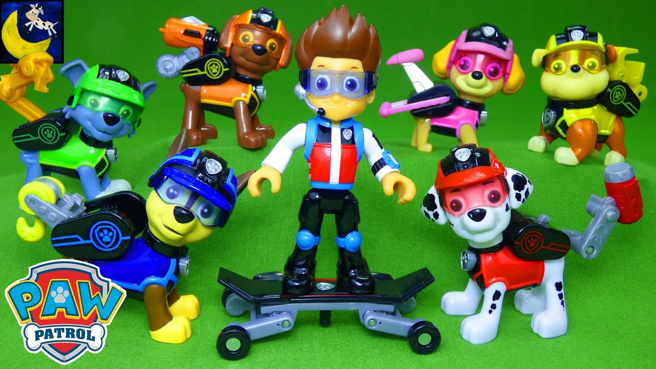Lots Of New Paw Patrol Mission Paw Toys Hero Ryder Skateboard