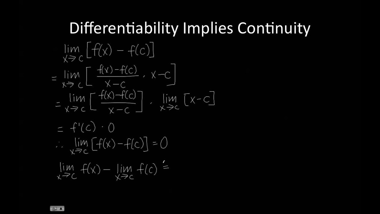 differentiability and continuity of a function pdf