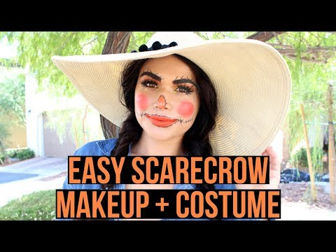 GLAM SCARECROW | EASY HALLOWEEN MAKEUP + DIY COSTUME thumbnail