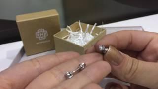 видео Пуссеты из белого золота с бриллиантами