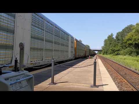 Rome, NY Train Station CSX Train 2 - 11:29 AM 08/15/2020