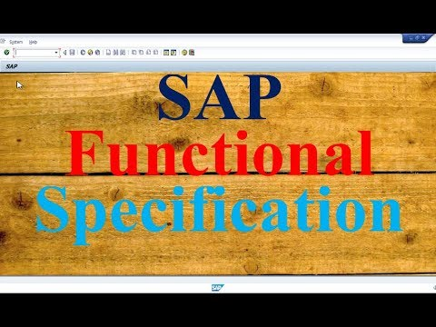 Sap Functional Specification Questions And Answer Youtube