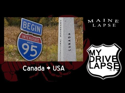 New Brunswick Into Maine On Interstate 95's North End