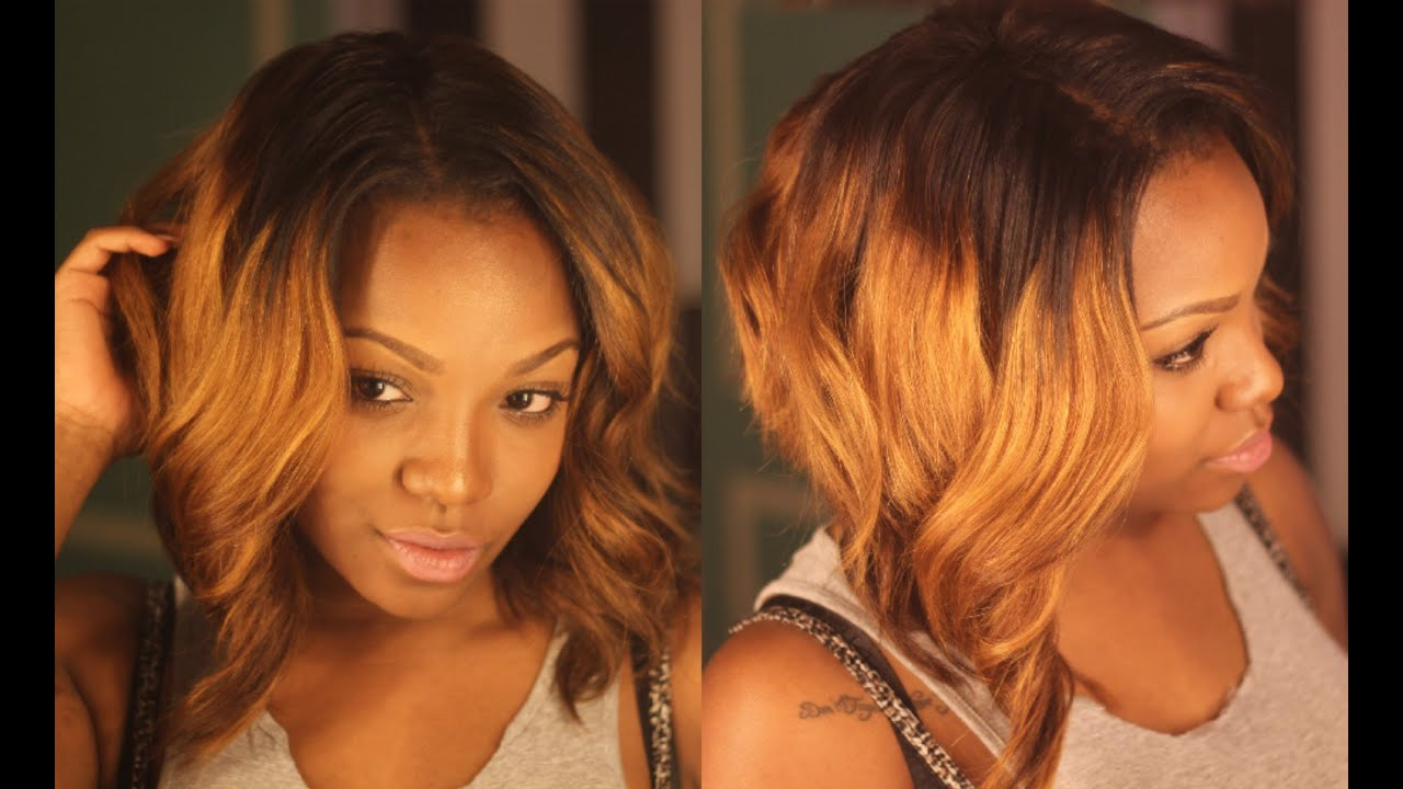 Curling & Styling My Ombre Bob