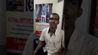 நழுவிய பள்ளிக்கல்வியை மீண்டும் பெற்றிட உதவியது NIOS கல்வி திட்டம் என்கிறார்  Sreesaravanakumar