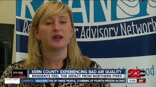 Wildfire smoke and haze brings an air quality alert to Kern County