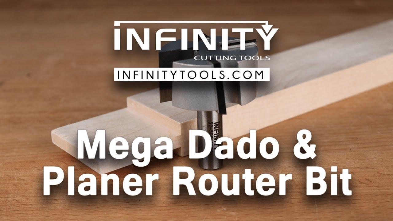 router planer bit. infinity cutting tools - mega dado \u0026 planer router bit