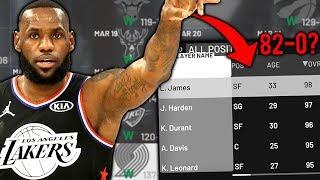 CAN TEAM LEBRON GO 82-0? NBA 2K19