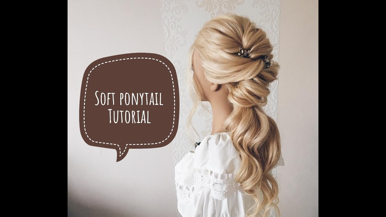 soft ponytail updo schnelle hochsteckfrisur. Black Bedroom Furniture Sets. Home Design Ideas