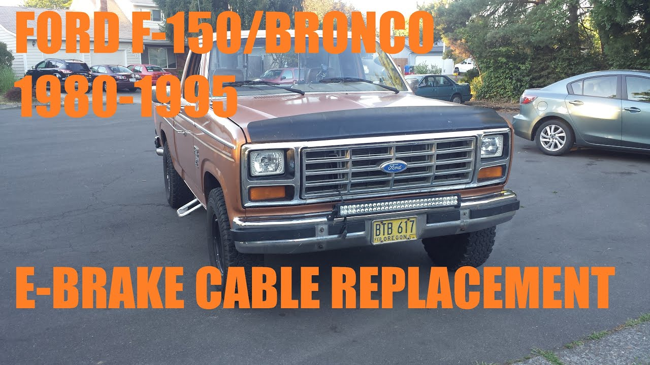1980 1995 F150 Bronco E Brake Cable Replacement Youtube 86 Ford 2 Wiring Diagram