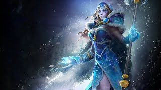 "Dota 2. обзор Crystal Maiden Arcana ""Frost Avalanche"""
