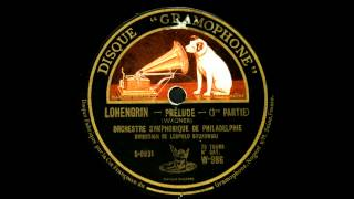 Stokowski conducts Lohengrin Overture (1927)