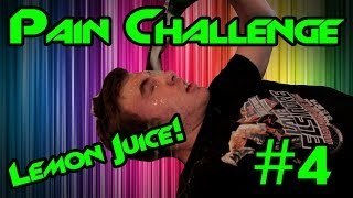 Pouring Lemon Juice In My Eyes ! | Pain Challenge #4