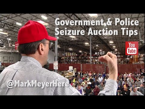 Insider Tips On Government And Police Seizure Auctions!