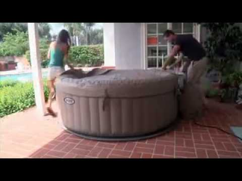 Intex purespa installation h264 plastica pools youtube for Aspirateur spa intex
