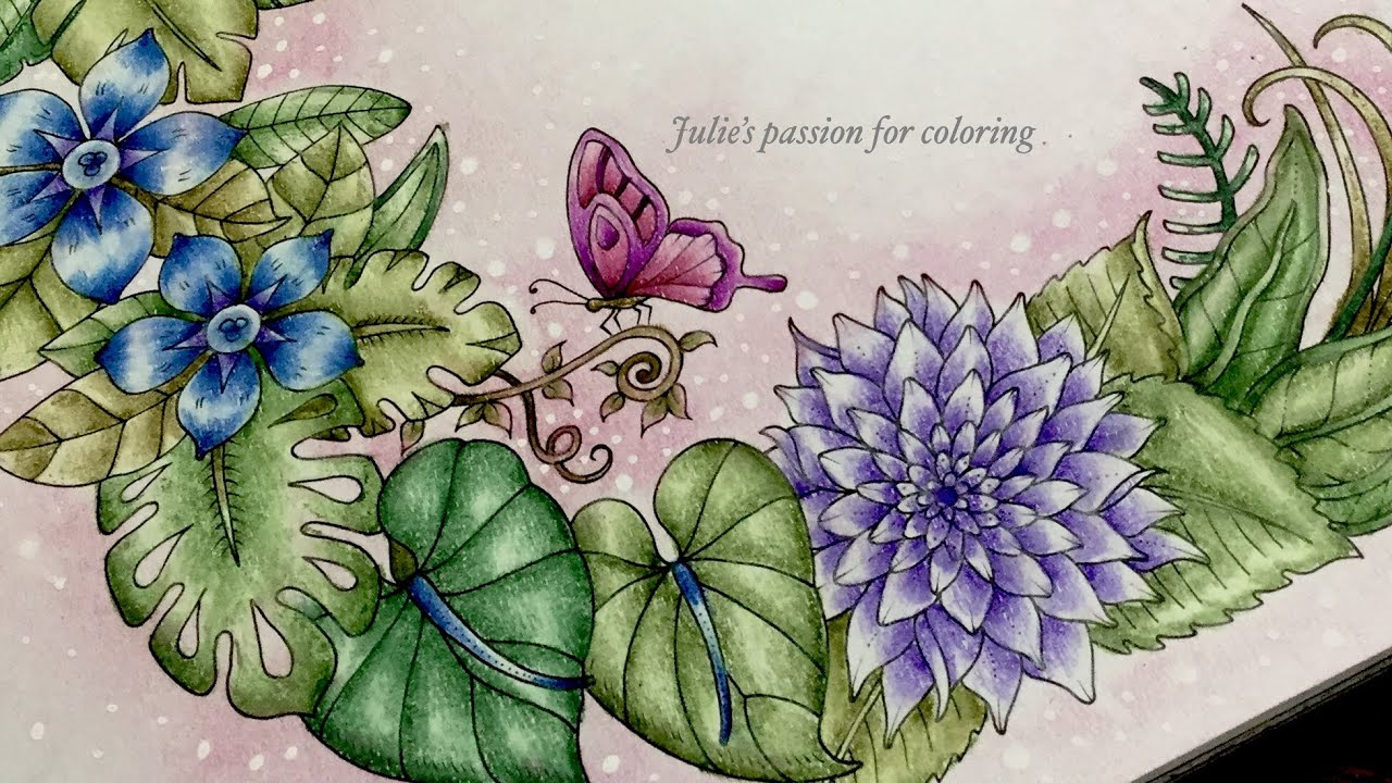 - MAGICAL JUNGLE By Johanna Basford - Prismacolor Pencils - Color