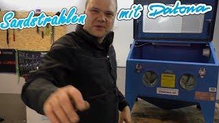 Datona Sandstrahlkabine unboxing und Praxistest