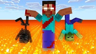 Monster School : HEROBRINE ZOMBIE APOCALYPSE 2 Challenge - Minecraft Animation