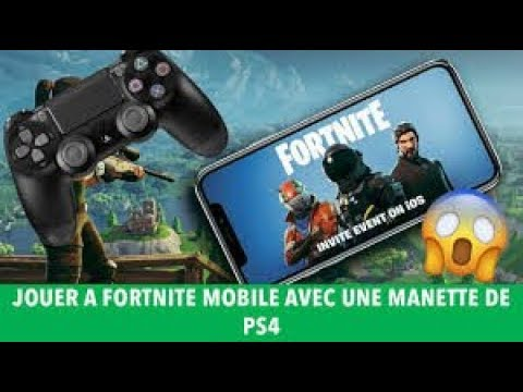 Jouer A Fortnite Avec Une Manette Sur Iphone Youtube