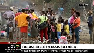 Most businesses in Pretoria remain closed, following attacks