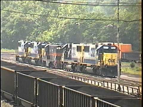 CSX and Amtrak At Connellsville, Pennsylvania -- 2000