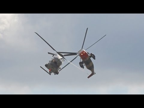 Amazing Helicopter Show Westland WS-61 Sea King Mk48 and NHI NH-90 NFH Belgian Air Component