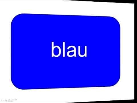 German Colour Flashcards - Deutsche Wortkarten und Bildkarten für den Sprachunterricht - Die Farben