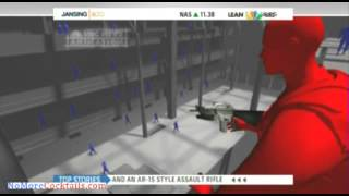 Chris Jansing airs animation of Navy Yard shooting showing Alexis holding AR-15 w/ grenade launcher