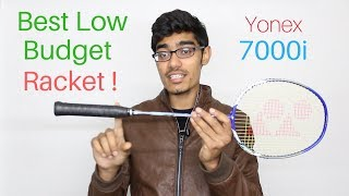 YONEX 7000i Unboxing and Review   Budget Badminton Racket   SportShala   Hindi