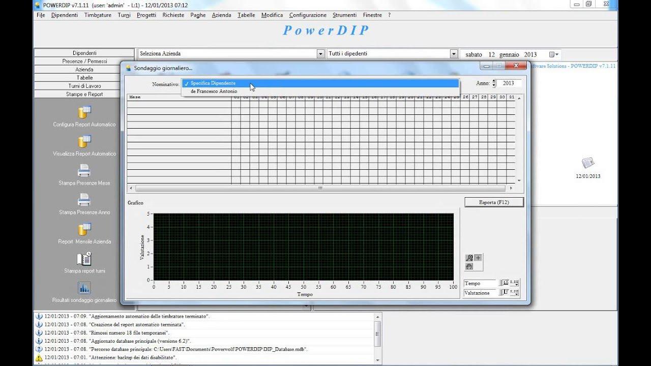Gestione presenze e turni personale aziendale powerdip for Software di progettazione del modello di casa