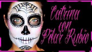 Maquillaje Catrina con Pilar Rubio, día de los muertos Fantasía #57   Silvia Quiros