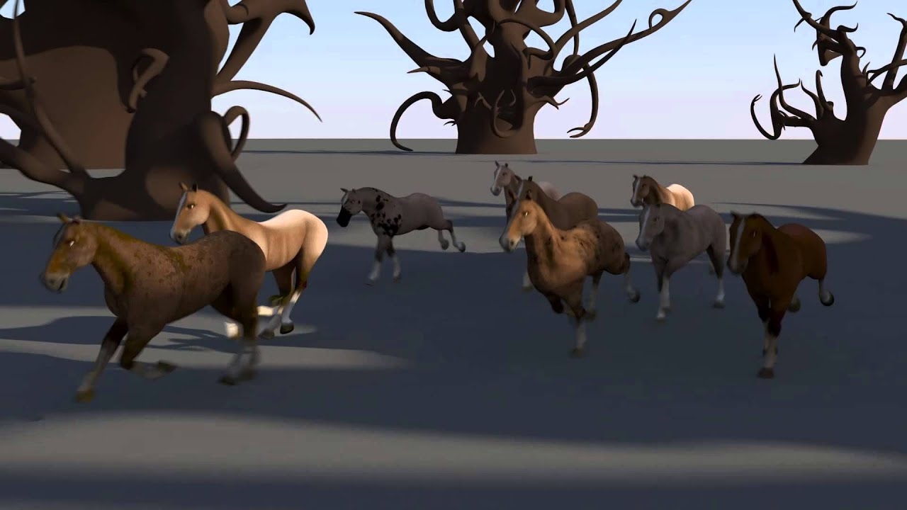 Horse running 3d animation - YouTube - photo#48