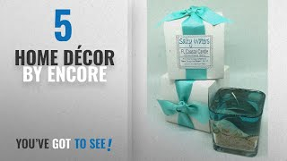 Top 10 Home Décor By Encore [ Winter 2018 ]: Florida Coastal Candle with Ocean Beach Seashell