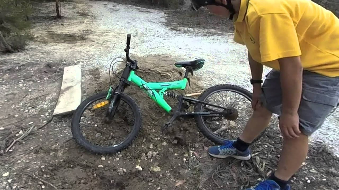 Jumping On A Kmart Boys Dual Suspension Bike Youtube