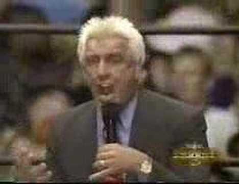 Ric Flair on the final WCW Monday Nitro