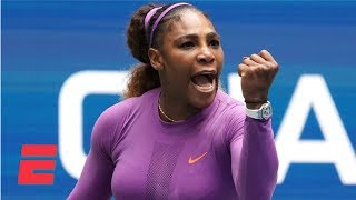 Serena Williams rolls ankle, beats Petra Martic in straight sets   2019 US Open Highlights