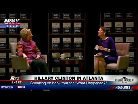 FNN: Hillary Clinton Speaks at Atlanta Book Tour Stop; Las Vegas Raiders Stadium Groundbreaking