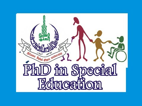Allama Iqbal Open University, AIOU Ph D Special Education, Doctor of Philosophy in Special Education