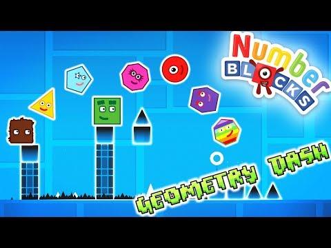 Numberblocks Play Geometry Dash