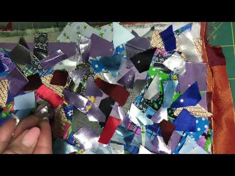 АРТ Текстиль своими руками /Косметичка в технике Пицца/ МК / DIY/ Pizza/ Cosmetic Bag