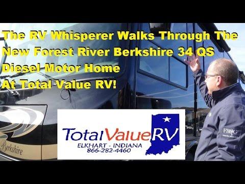 The RV Whisperer Walks Thru The New Berkshire 34 QS at Total Value RV!