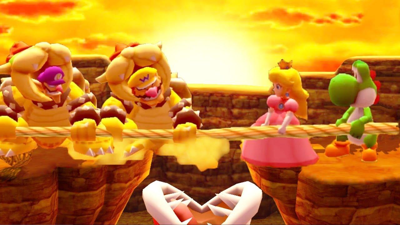 Mario Party The Top Minigames - Peach vs Yoshi vs Wario vs Waluigi (Master Cpu)