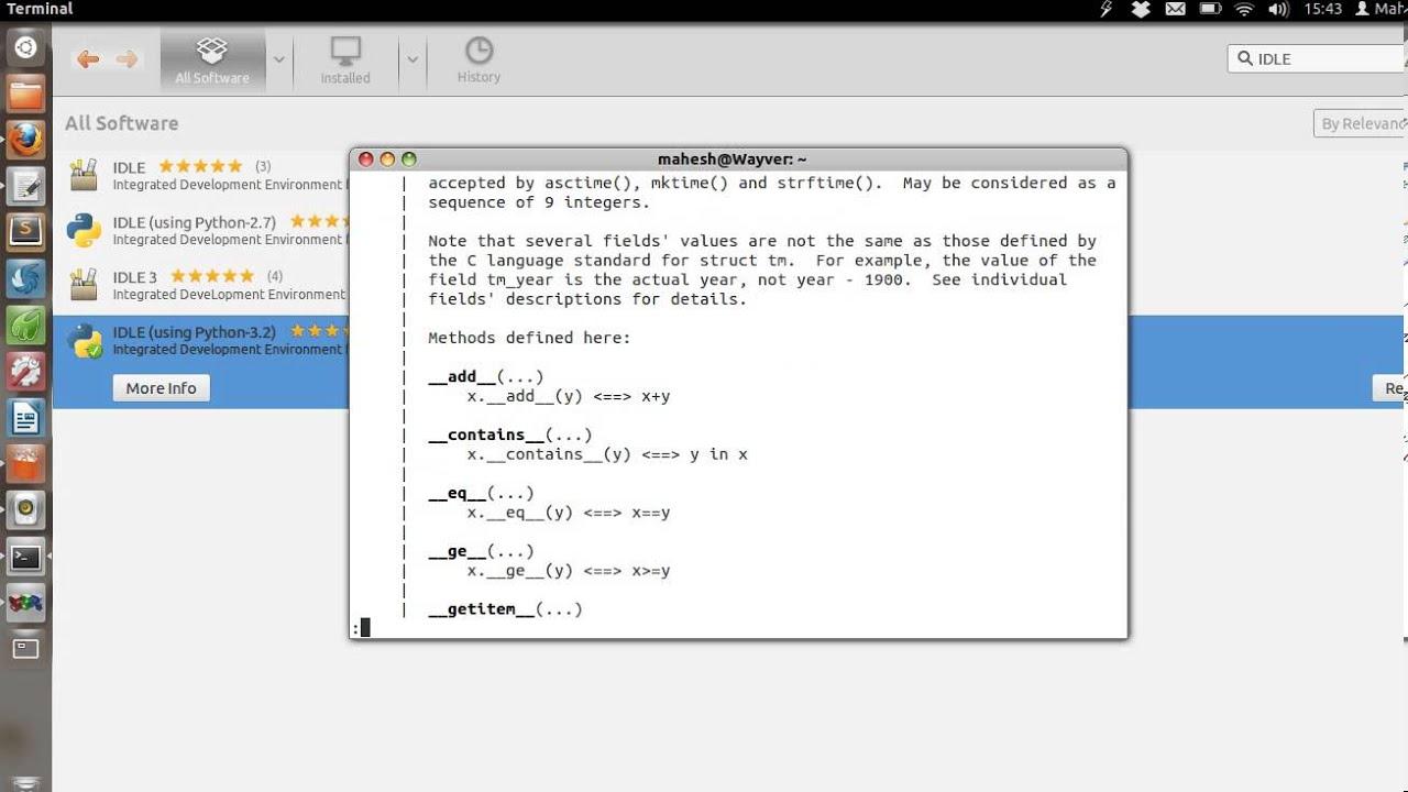 Using Python on Linux Terminal : Python Shell and IDLE